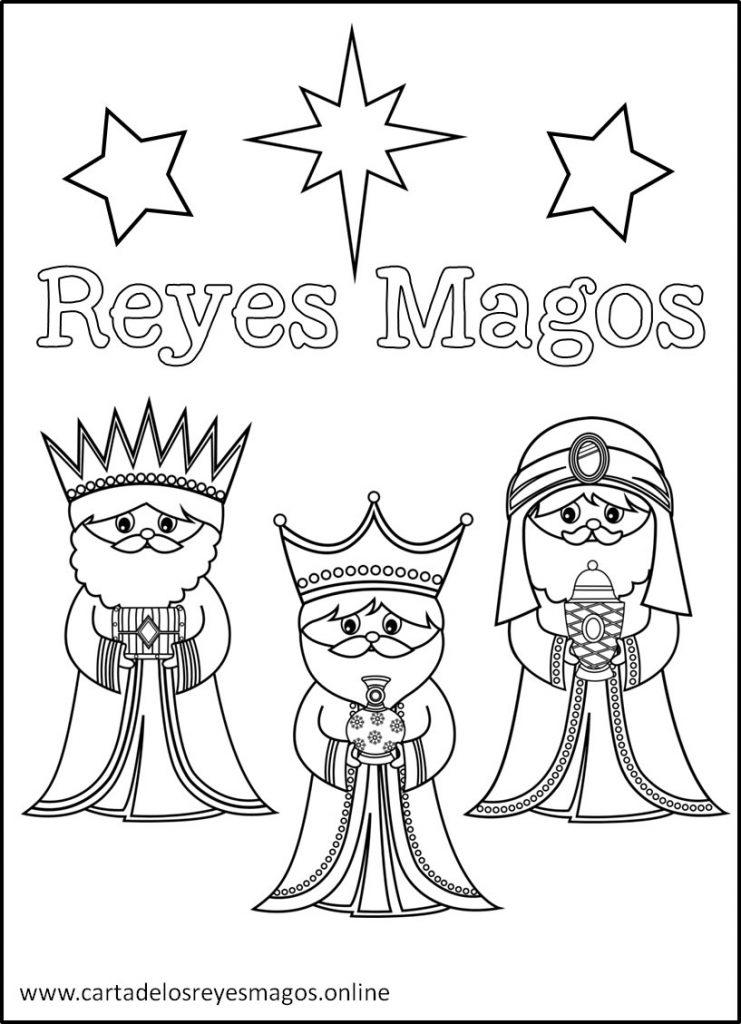 Reyes Magos para Colorear