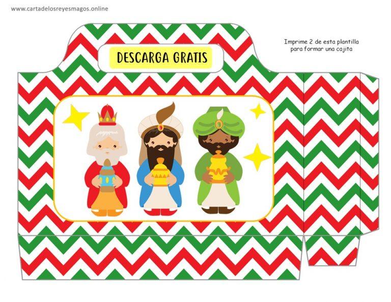 Caja imprimible de los Reyes Magos