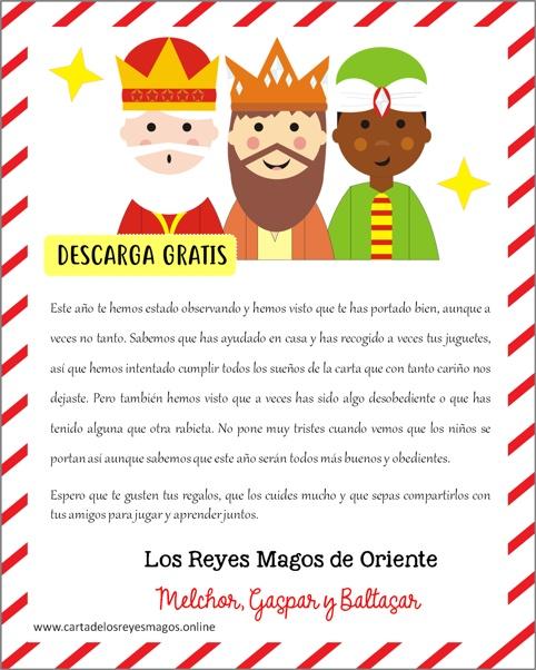 Carta de los tres Reyes magos