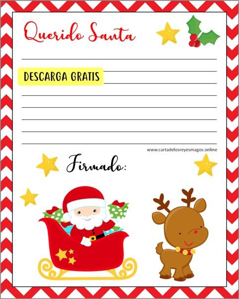 Carta Santa Claus Para Rellenar