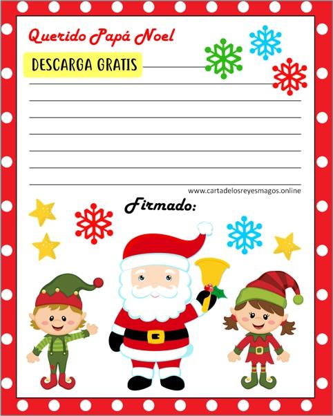 Imprimir Cartas para Papá Noel